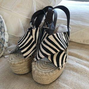 Dolce Vita zebra wedges